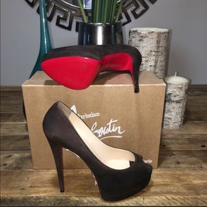 New Christian Louboutin Suede Pumps